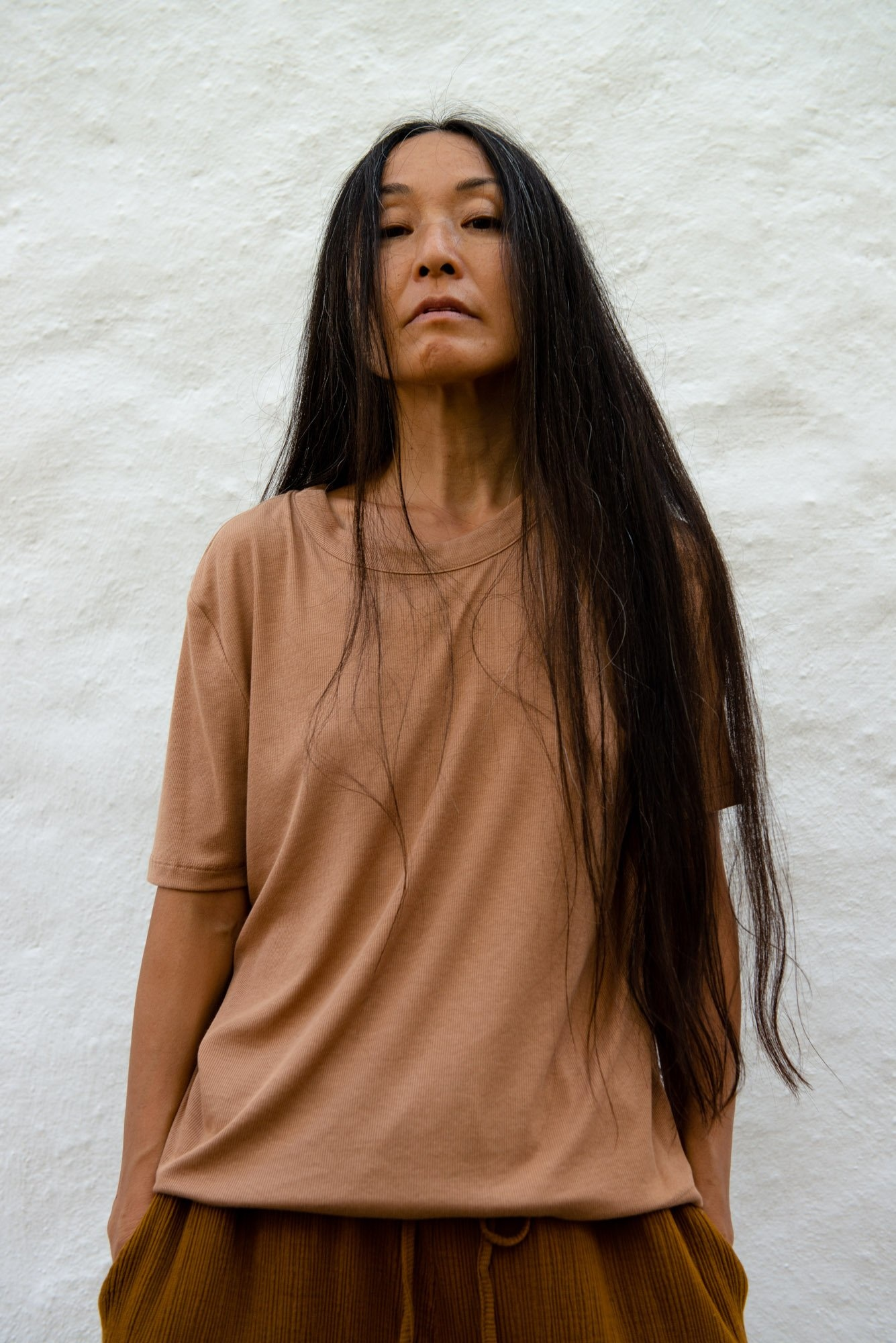 Relaxed T-shirt S/S Portugese Rib Sand