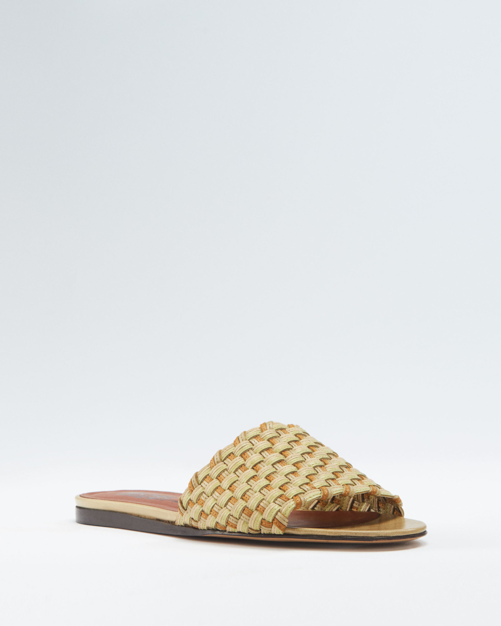 Nori Sandal Nappa Pistache