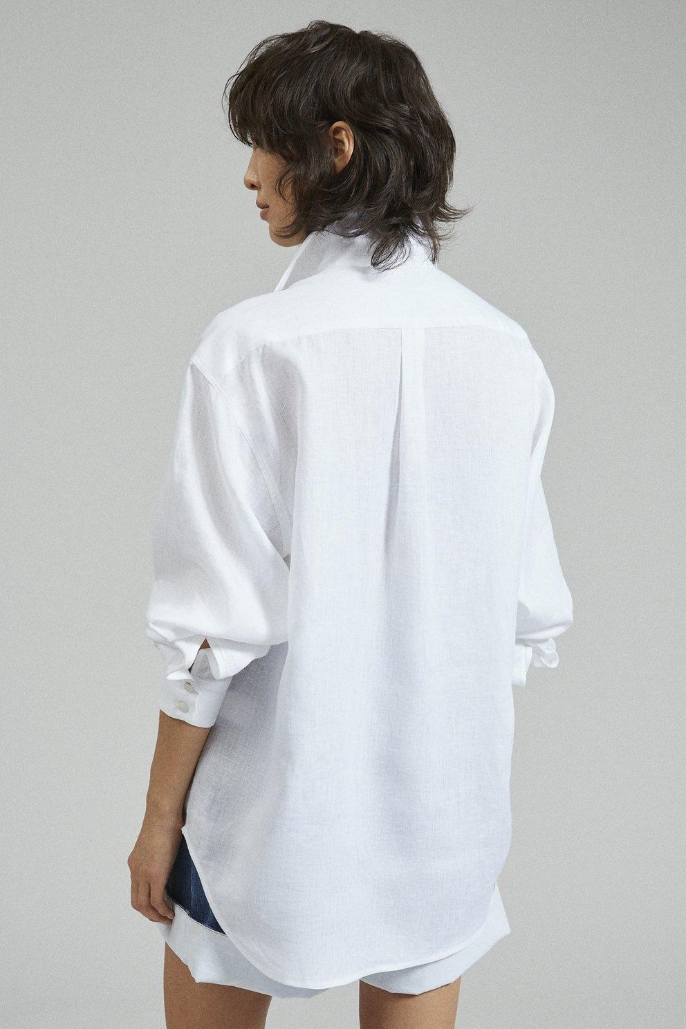 Ames Top Lightweight Linen White
