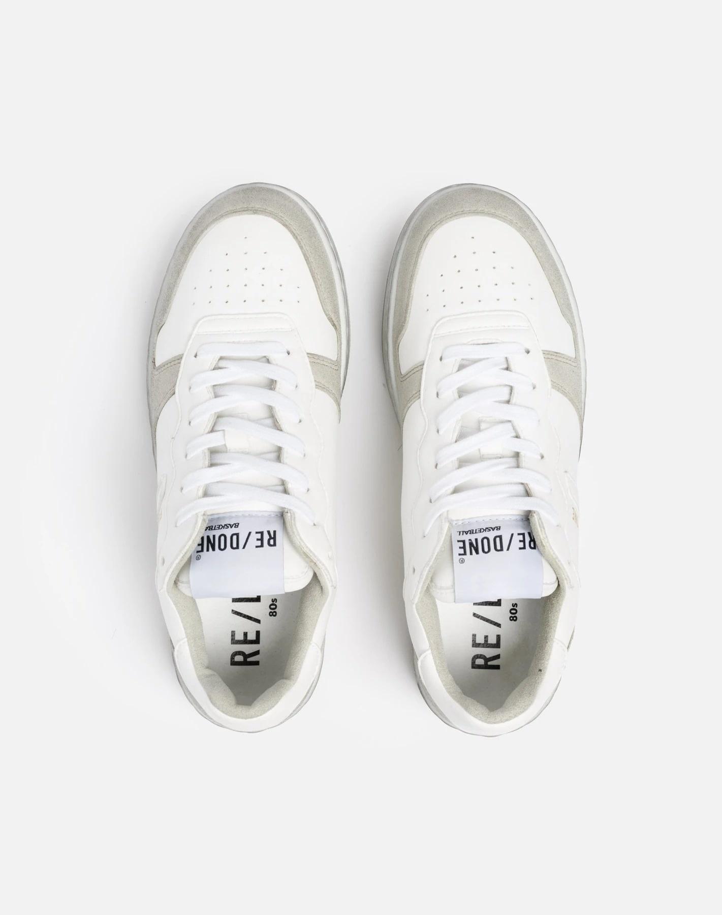 80S Sustainable Basketball Shoe White&White