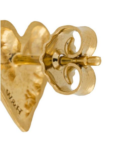 Single Heart Stud Earring one size