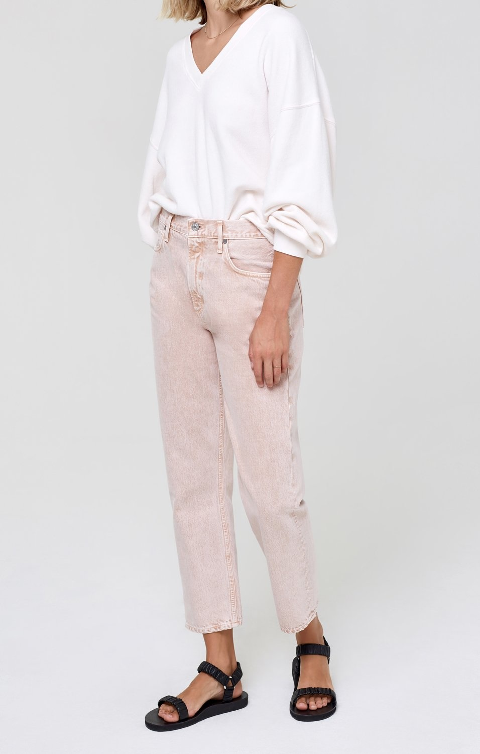 Marlee Jeans Relaxed Taper Cactus Bloom