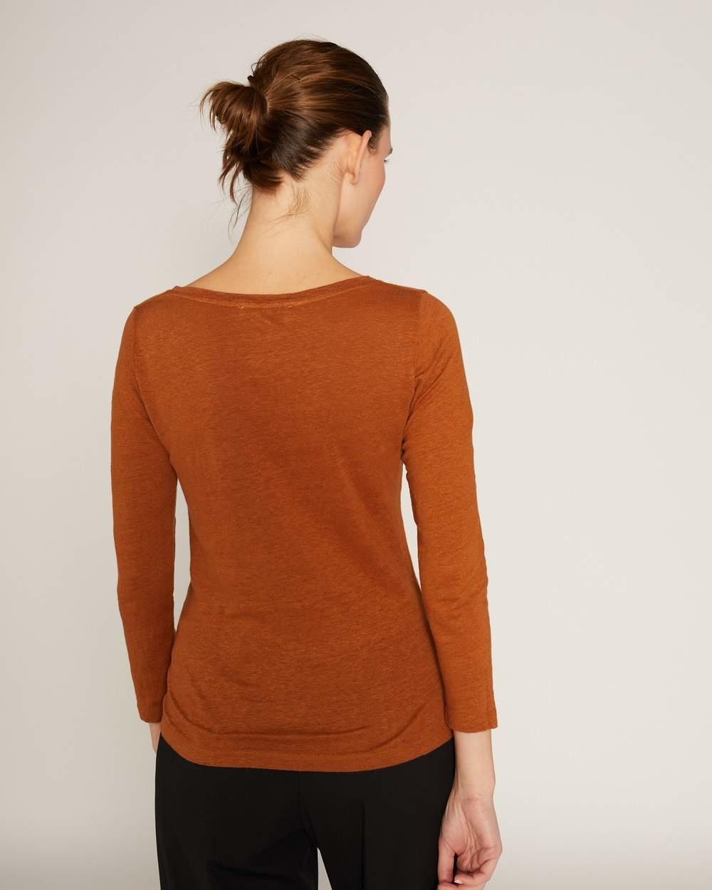 Lino 3/4  T-shirt Spice