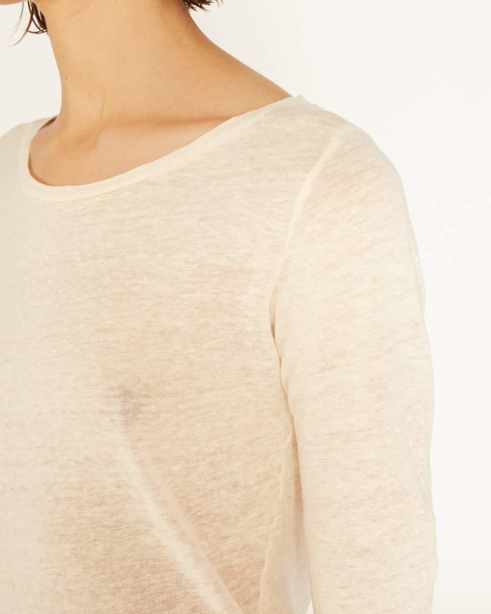 Lino 3/4  T-shirt Ecru