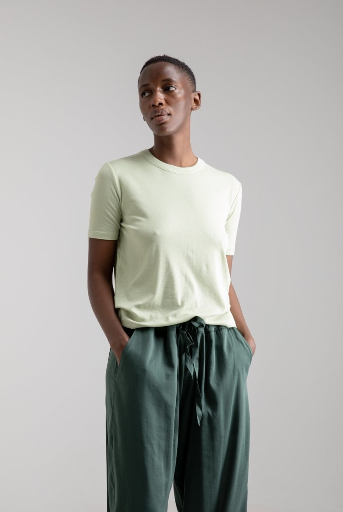 Relaxed T-shirt S/S Portugese Rib Swamp