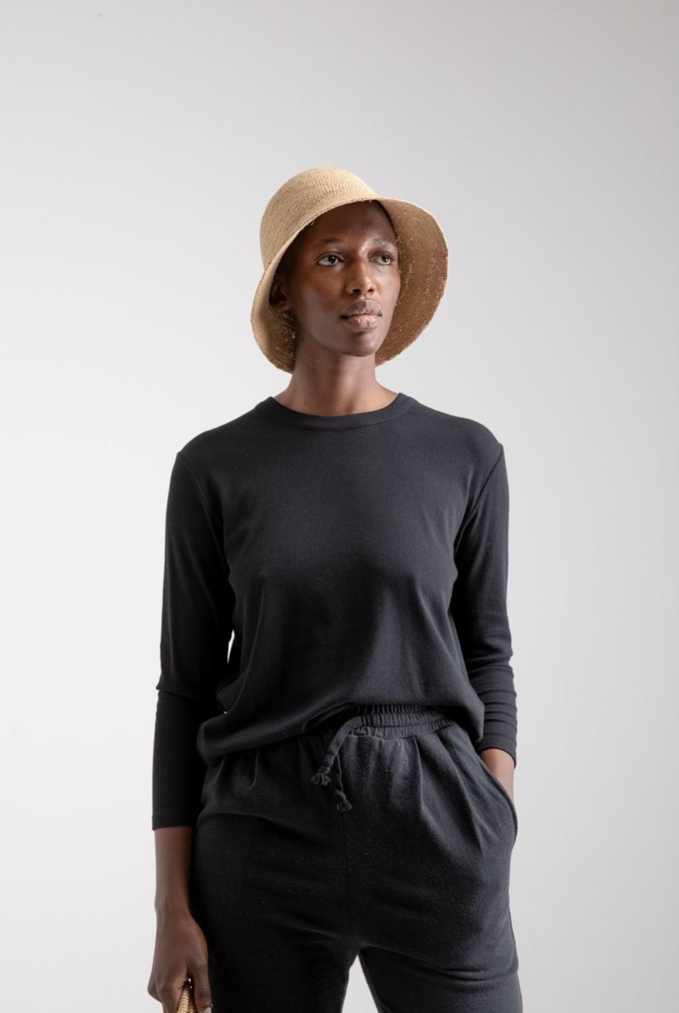 Relaxed T-shirt L/S Portugese Rib Black
