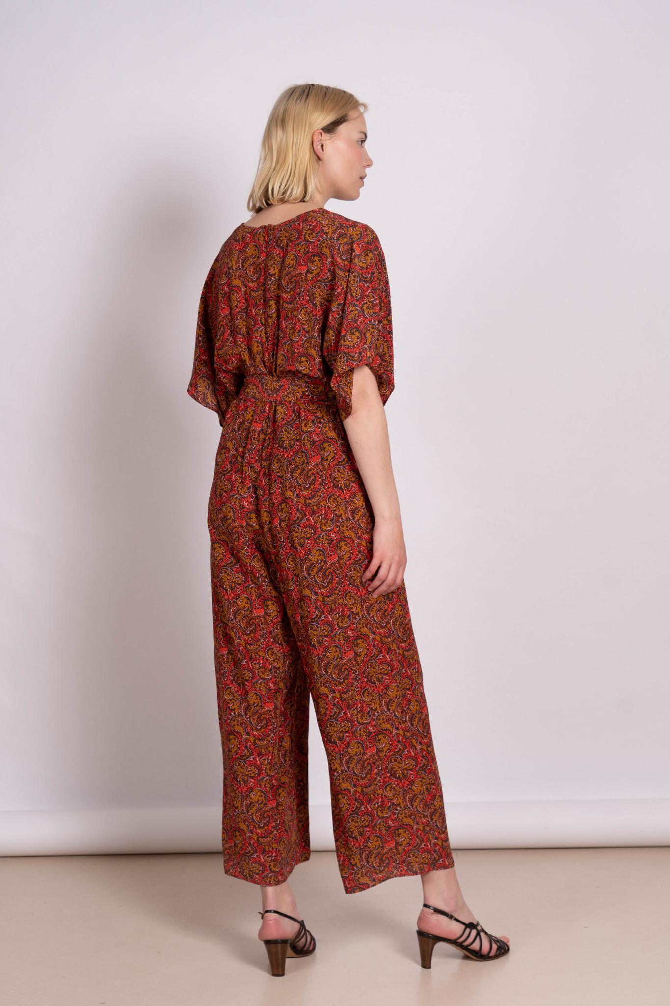 Lelie jumpsuit red print