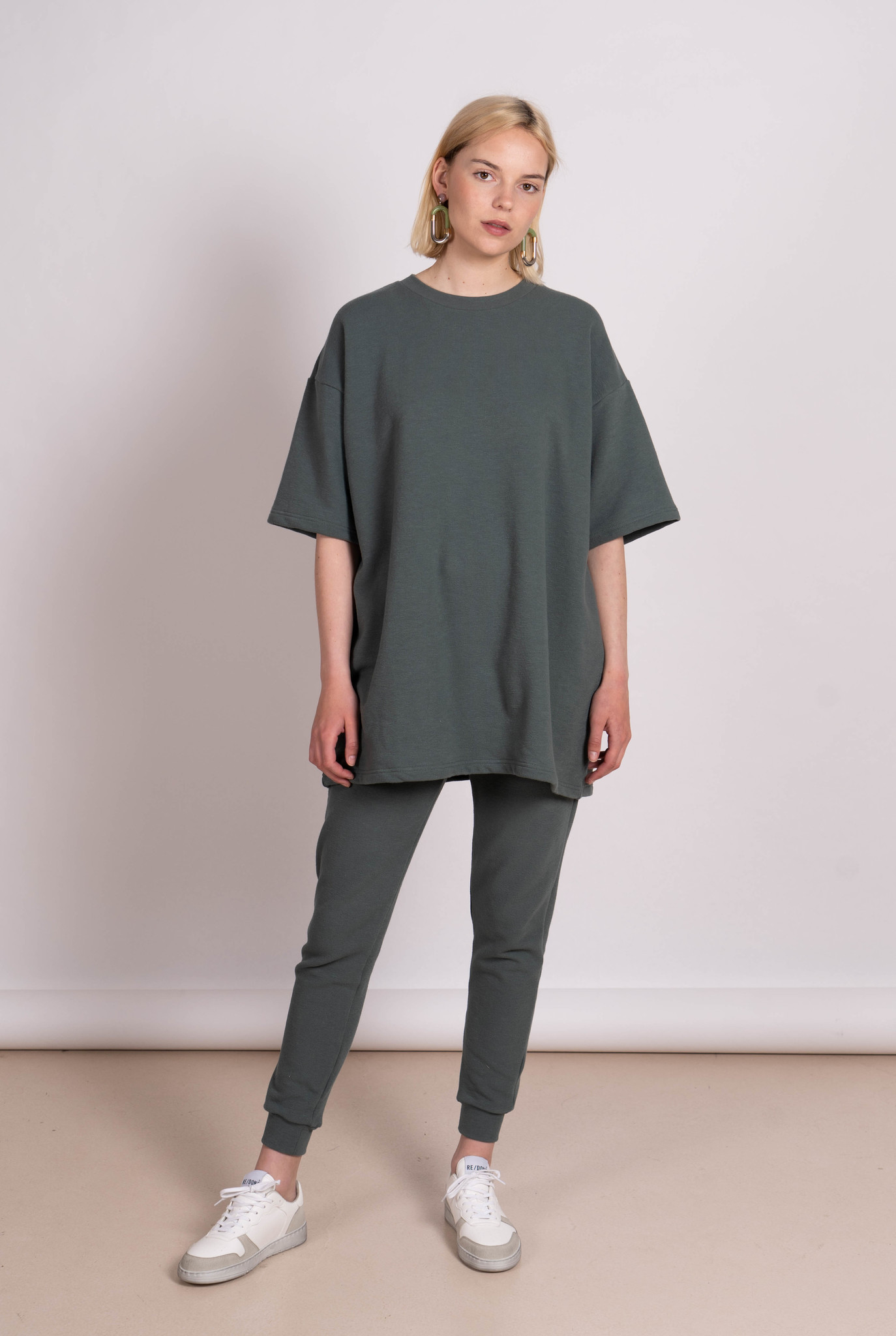 """Shirt/ Dress """"Luisa"""" Jungle Green Japanese cotton"""