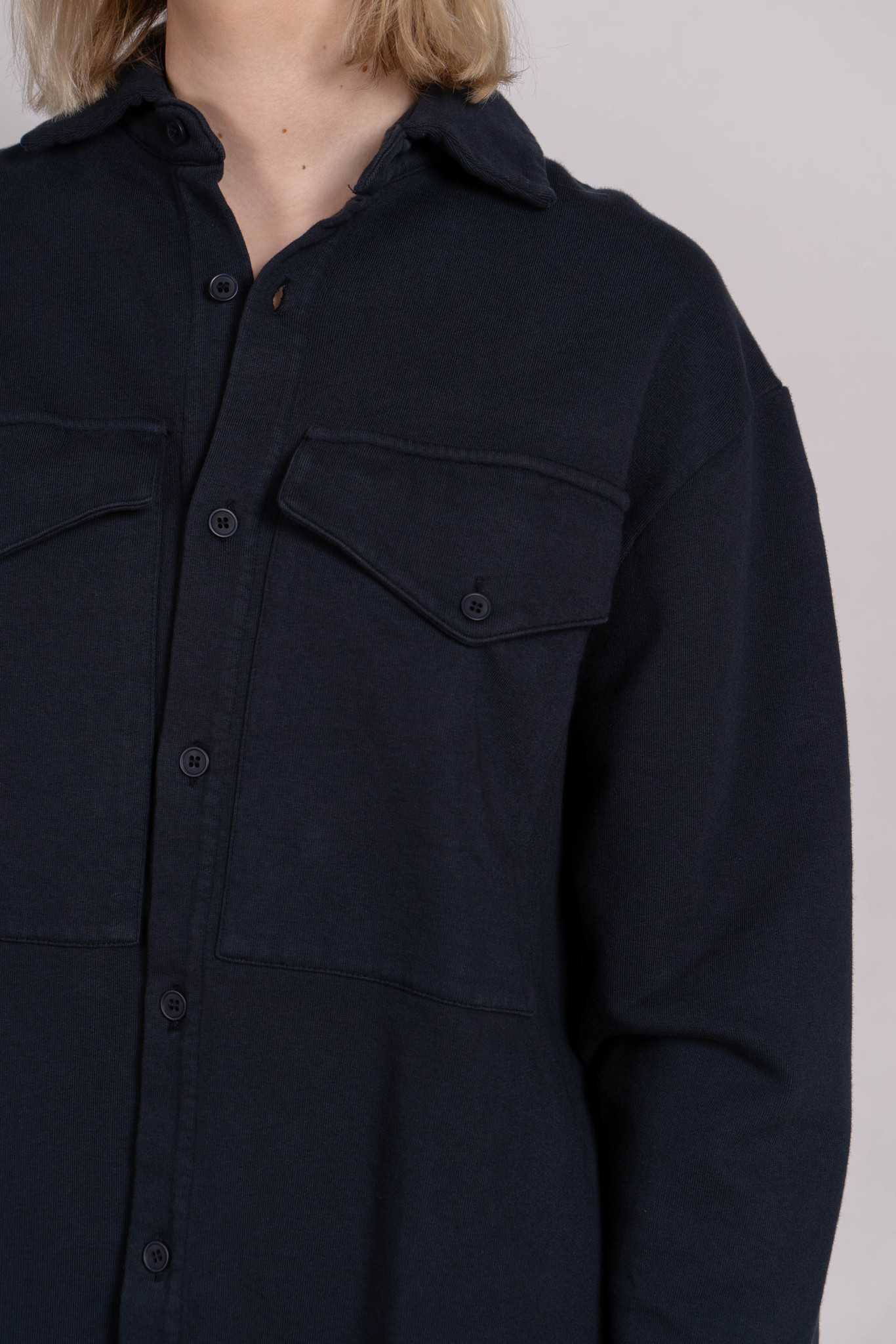 Unisex Shirt Diego French Terry Dark Navy