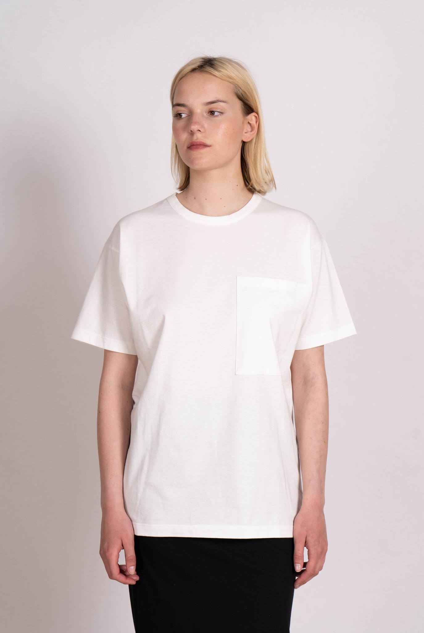 Unisex T-shirt S/S Pocket Off White