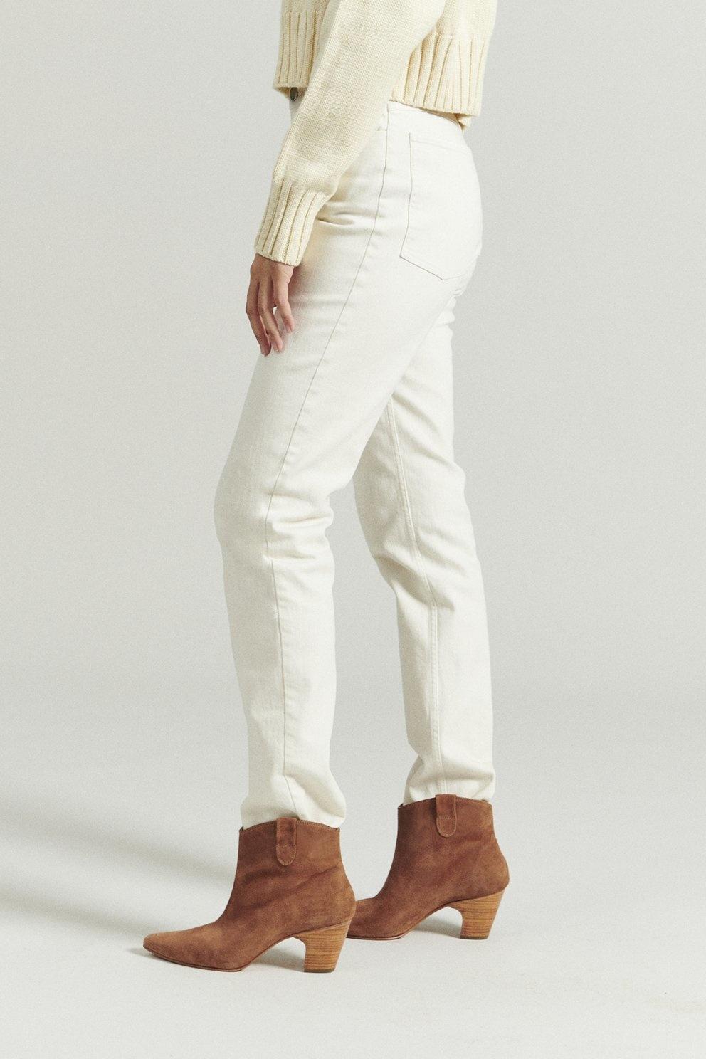 Bastien Trouser Dirty White