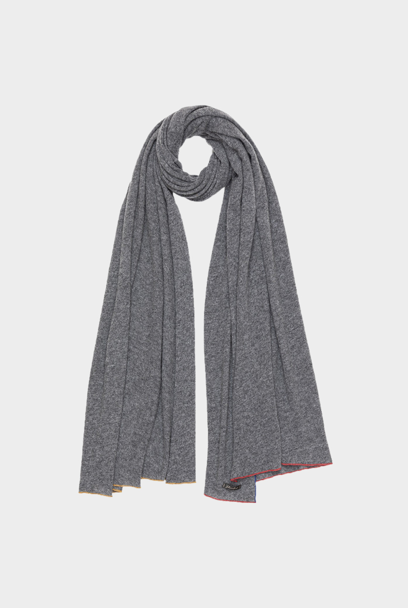 Lety Scarf Grey Colored Edges