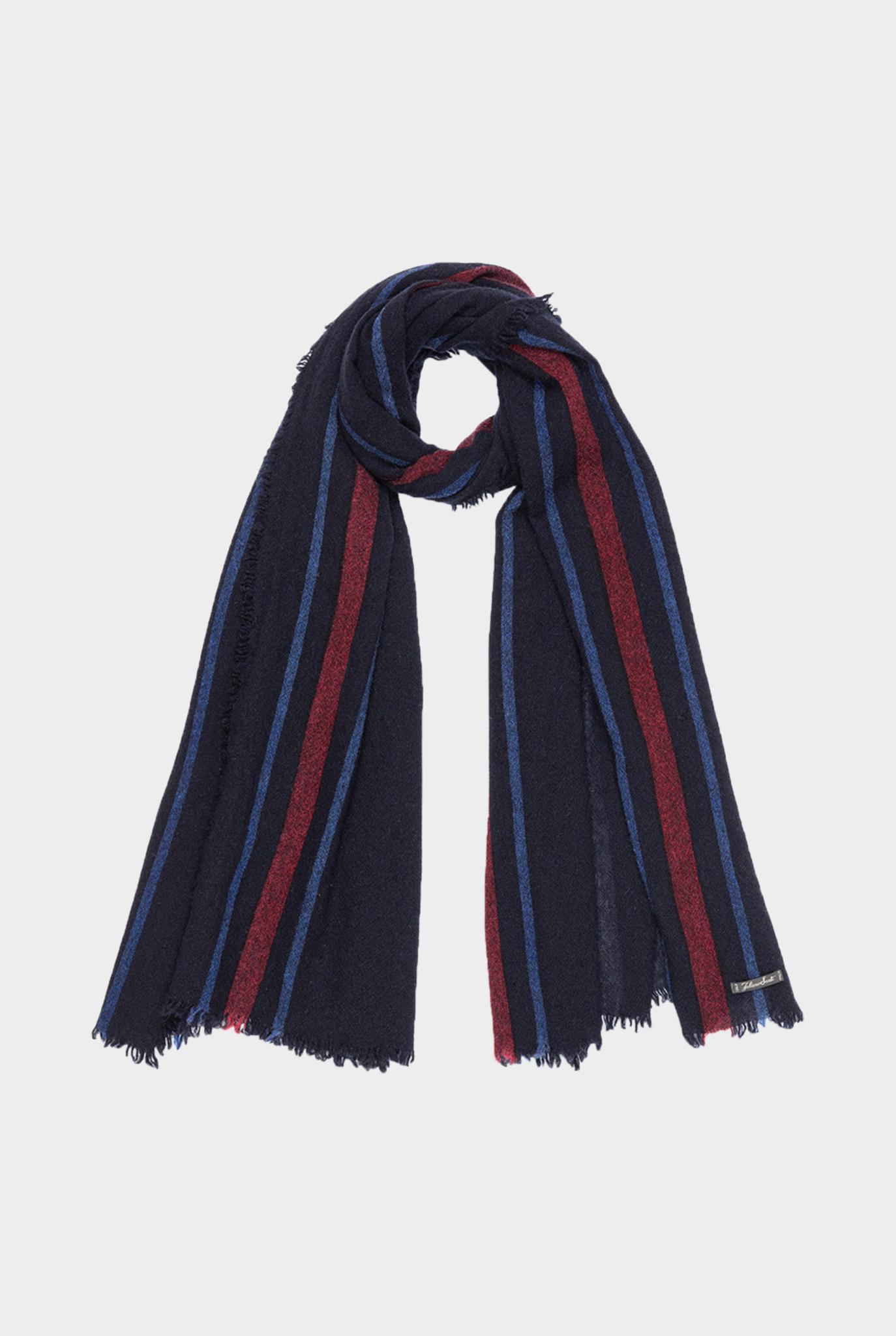 Roller Scarf Dark Blue Red Stripes