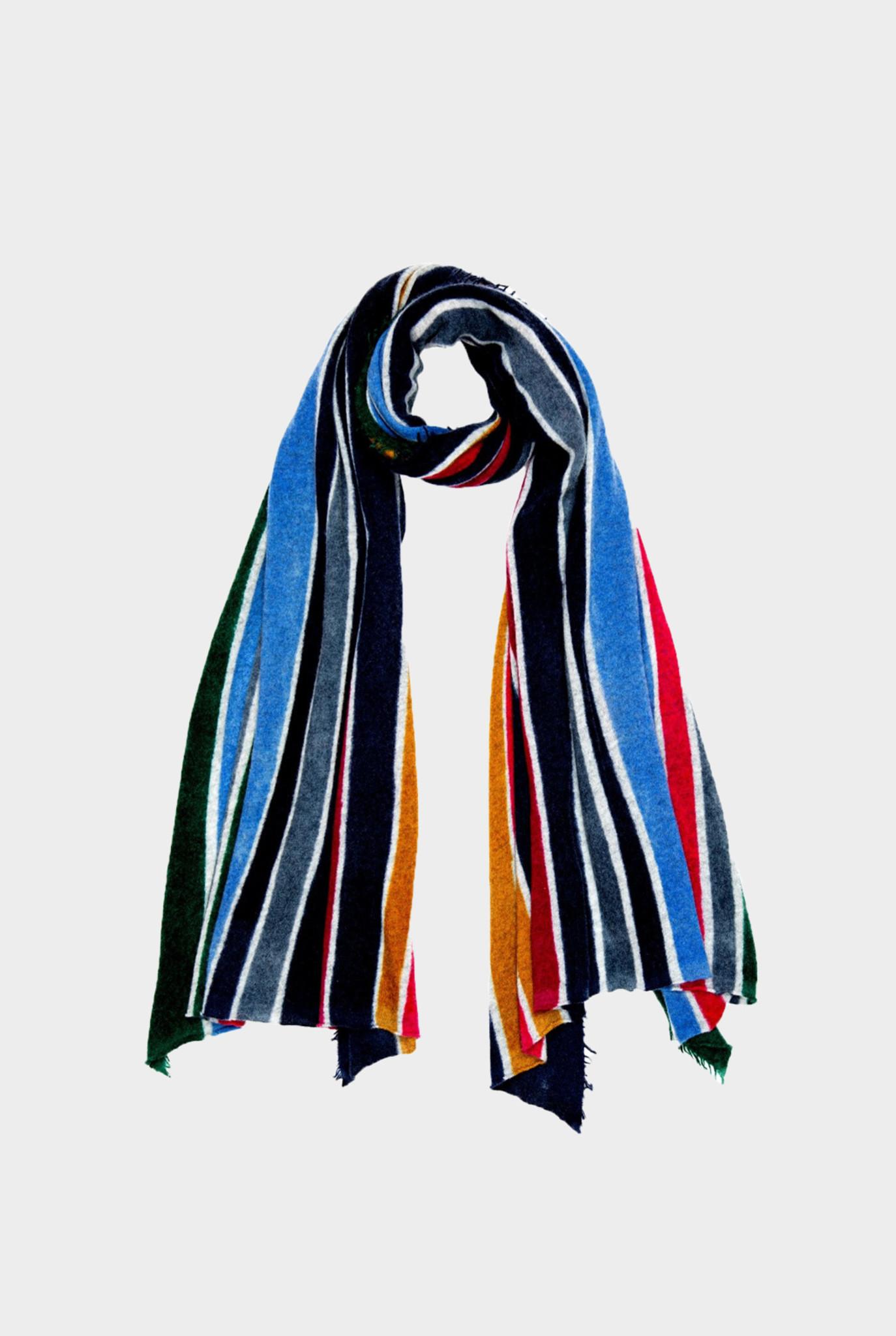 Flipper Scarf Multi Color Stripes Blue Red
