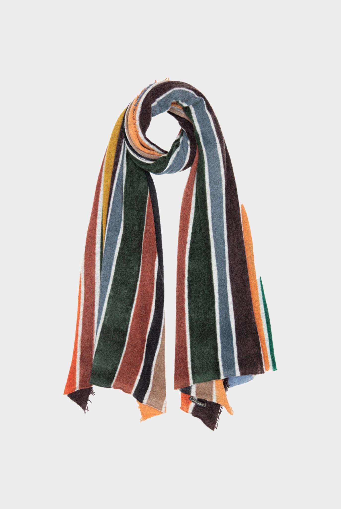 Fily Scarf Multi Color Stripes Orange Brown