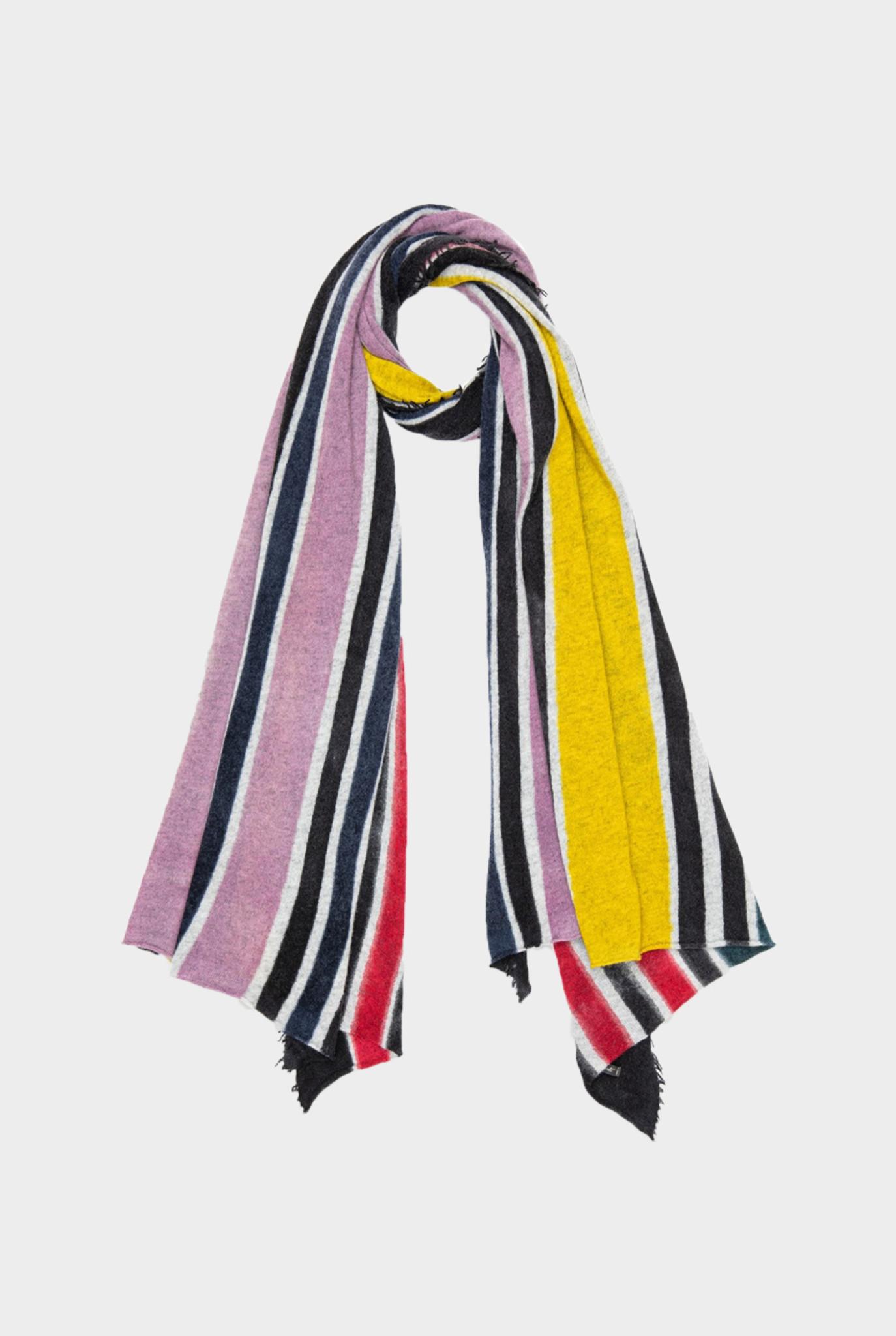 Pippo Scarf Scarf Multi Color Stripes Lilac Yellow