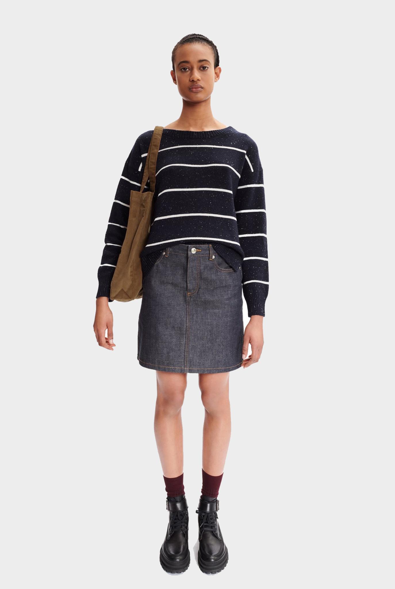 Sophie sweater dark navy white stripe