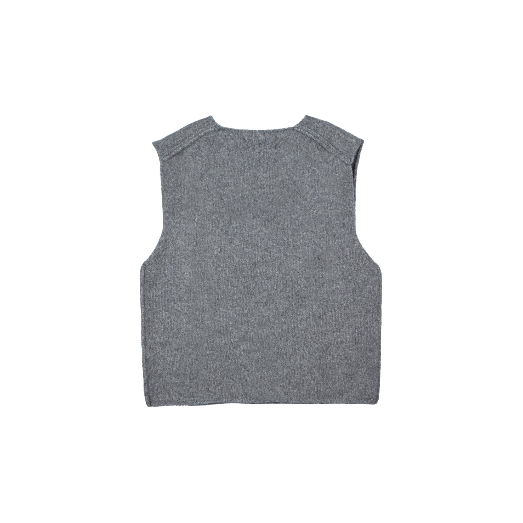V Neck Vest Grey