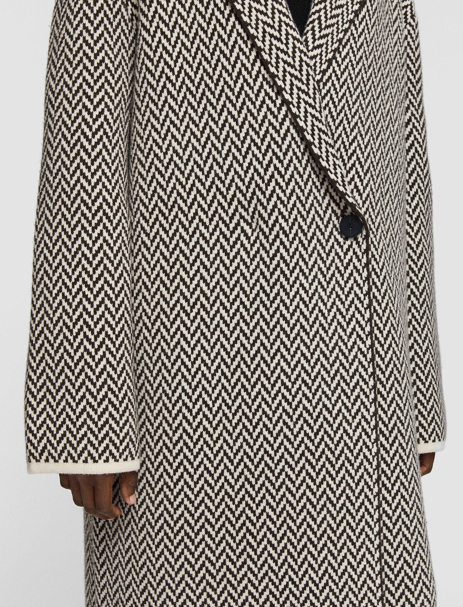 Coat Herringbone Brown