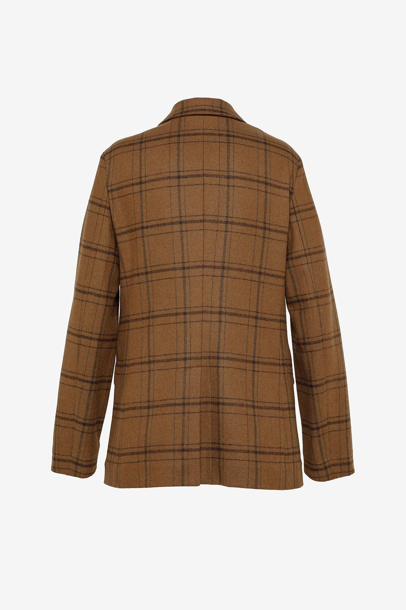 Double Breasted Blazer Brown Check