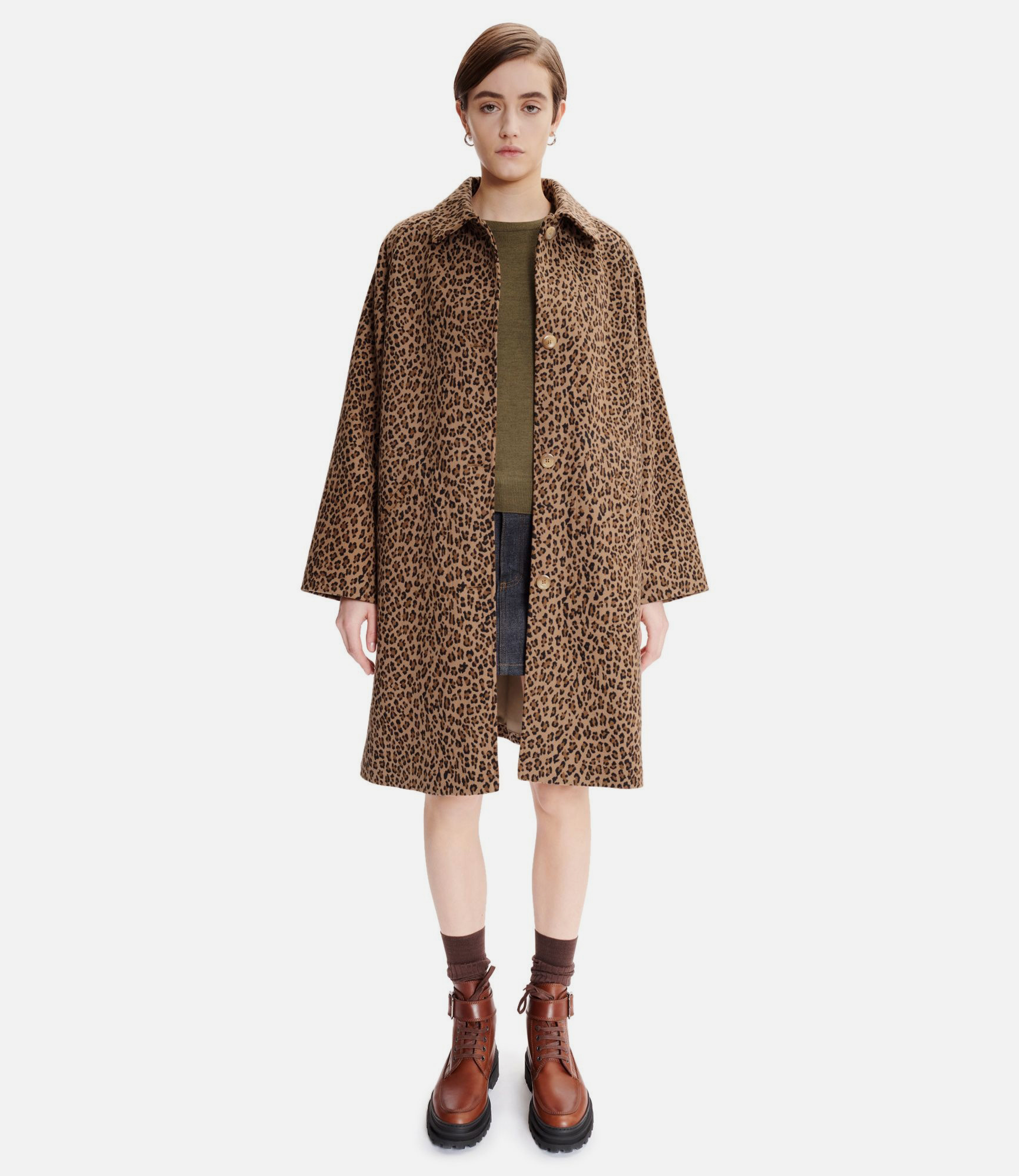 Alice Coat Camel Panther