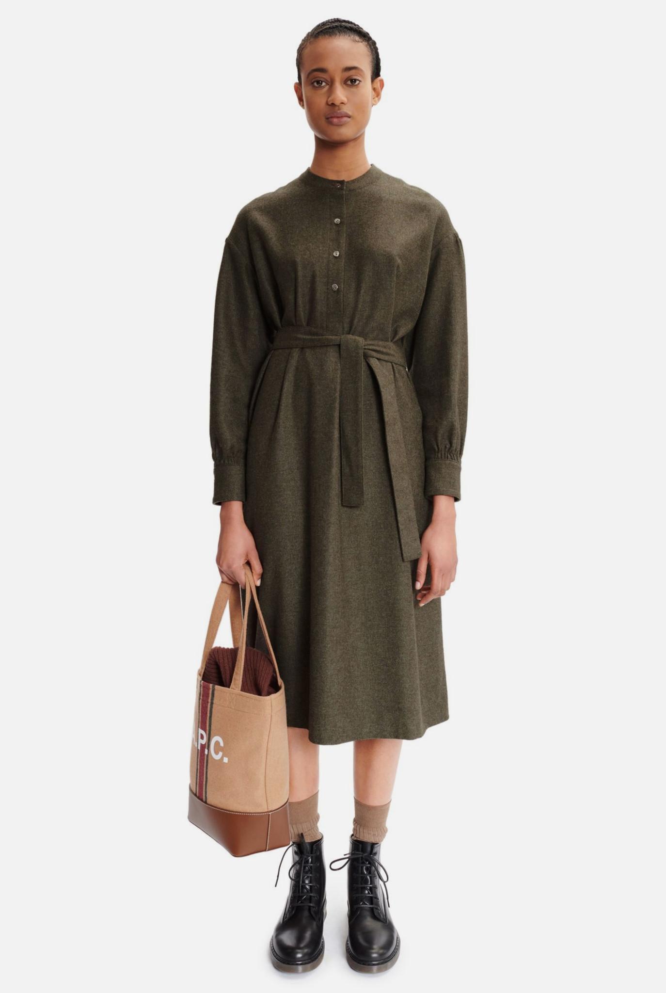 Morgane Dress Kaki Chine