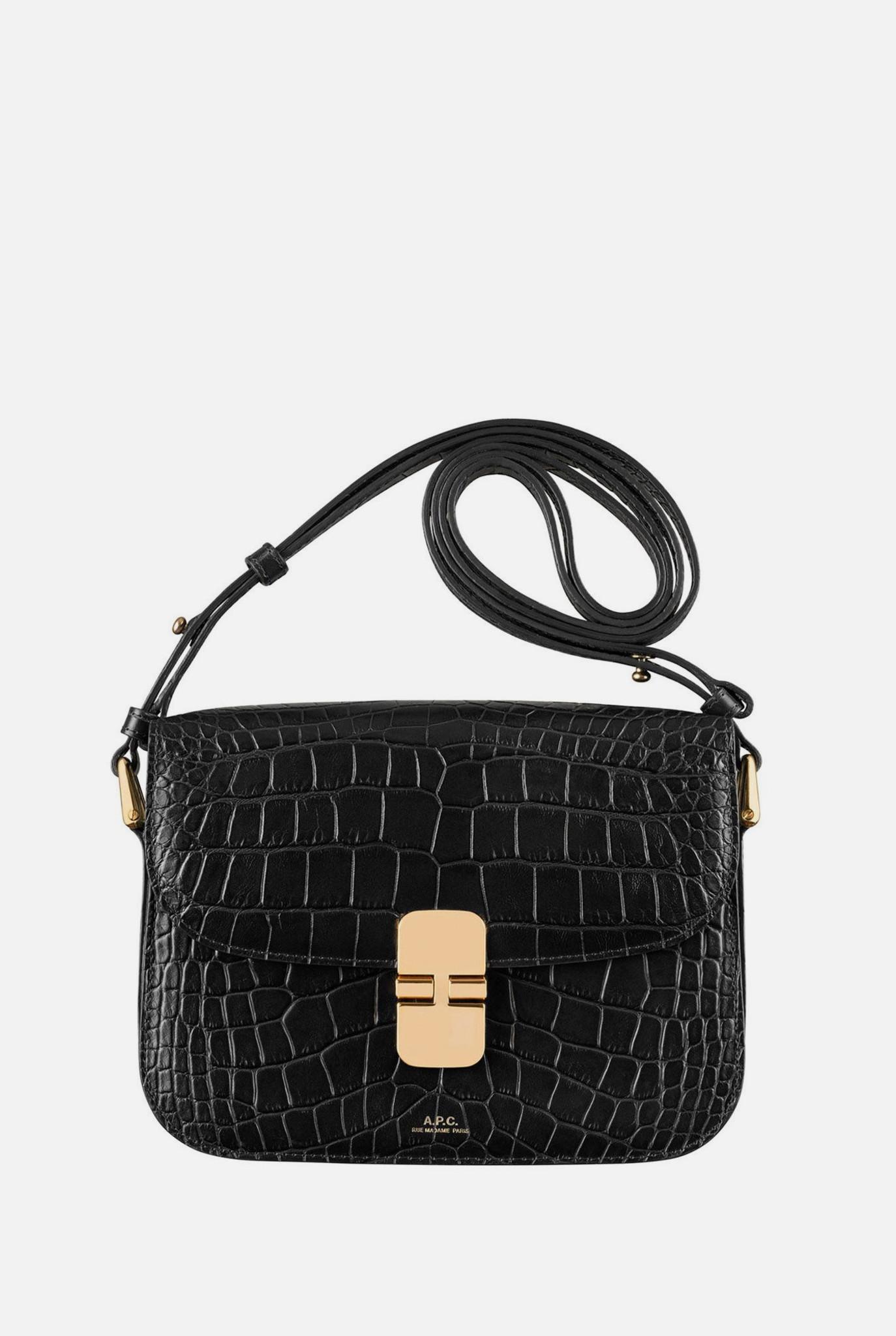 Grace Bag Small Black Croco
