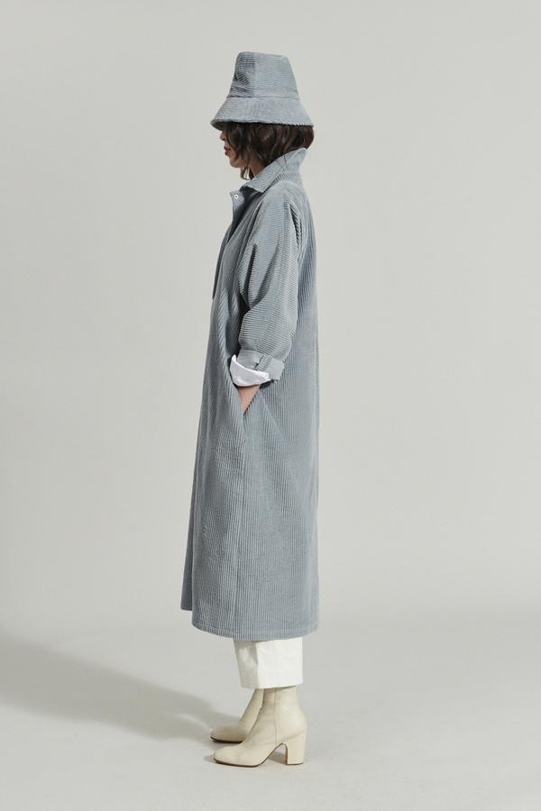 Marcelino dress Wide wale corduroy Grey