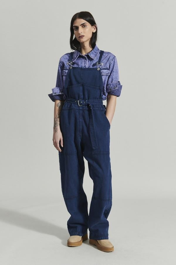 Meg overalls Acid wash denim