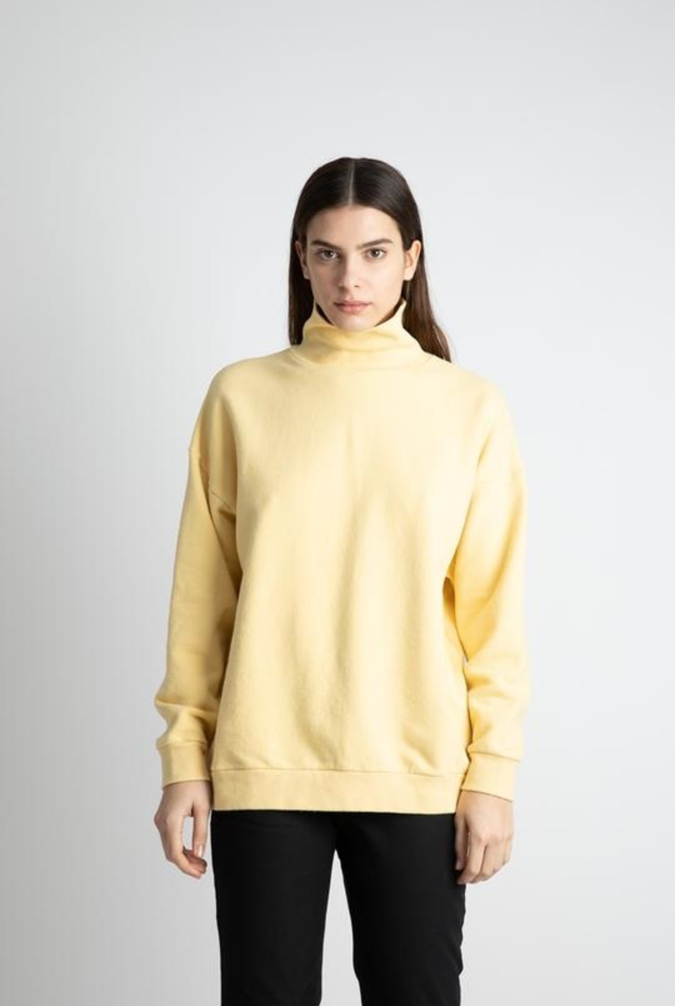 Classic sweater turtleneck pineapple slice Japanese cotton