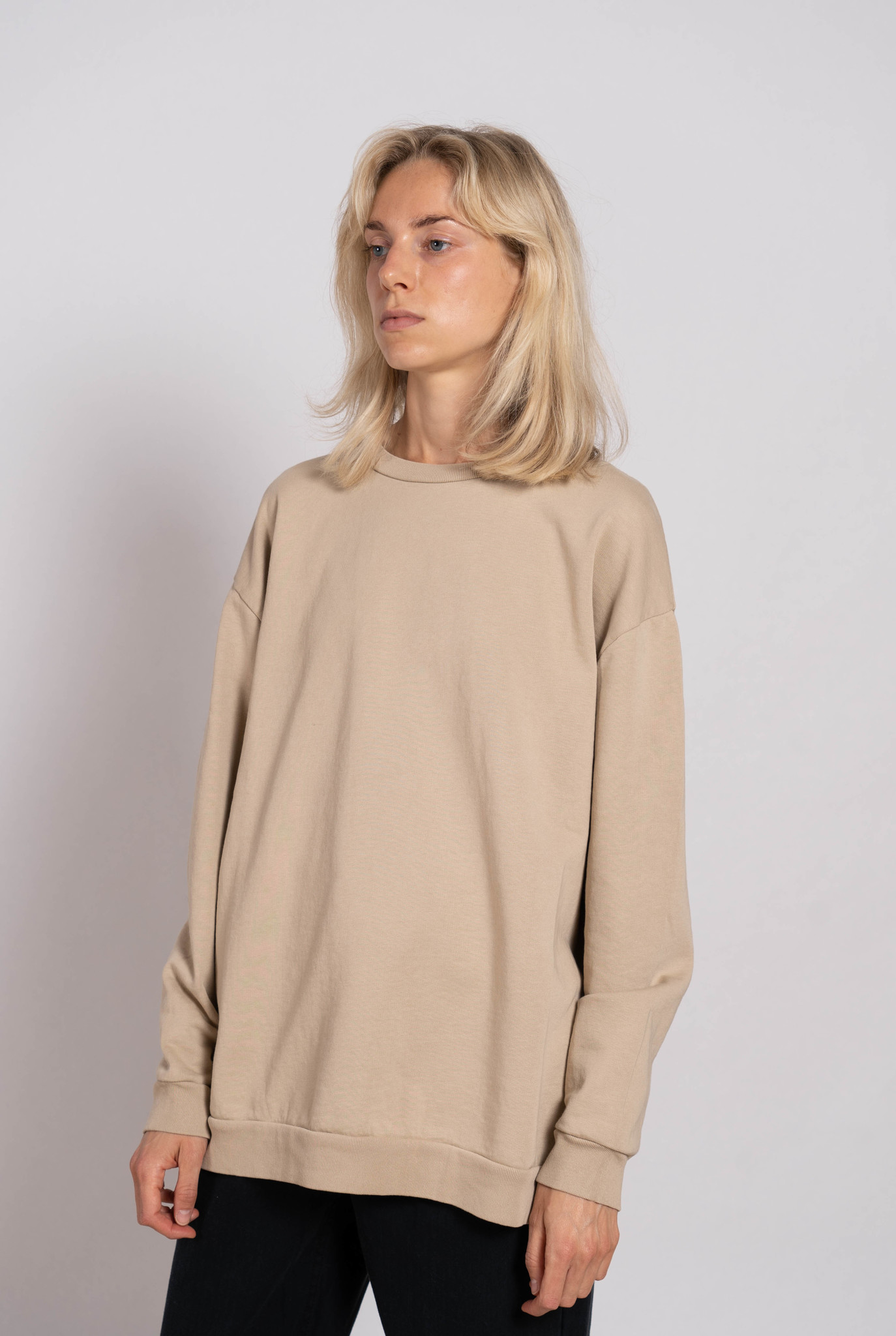 Classic Sweater French Terry Doeskin