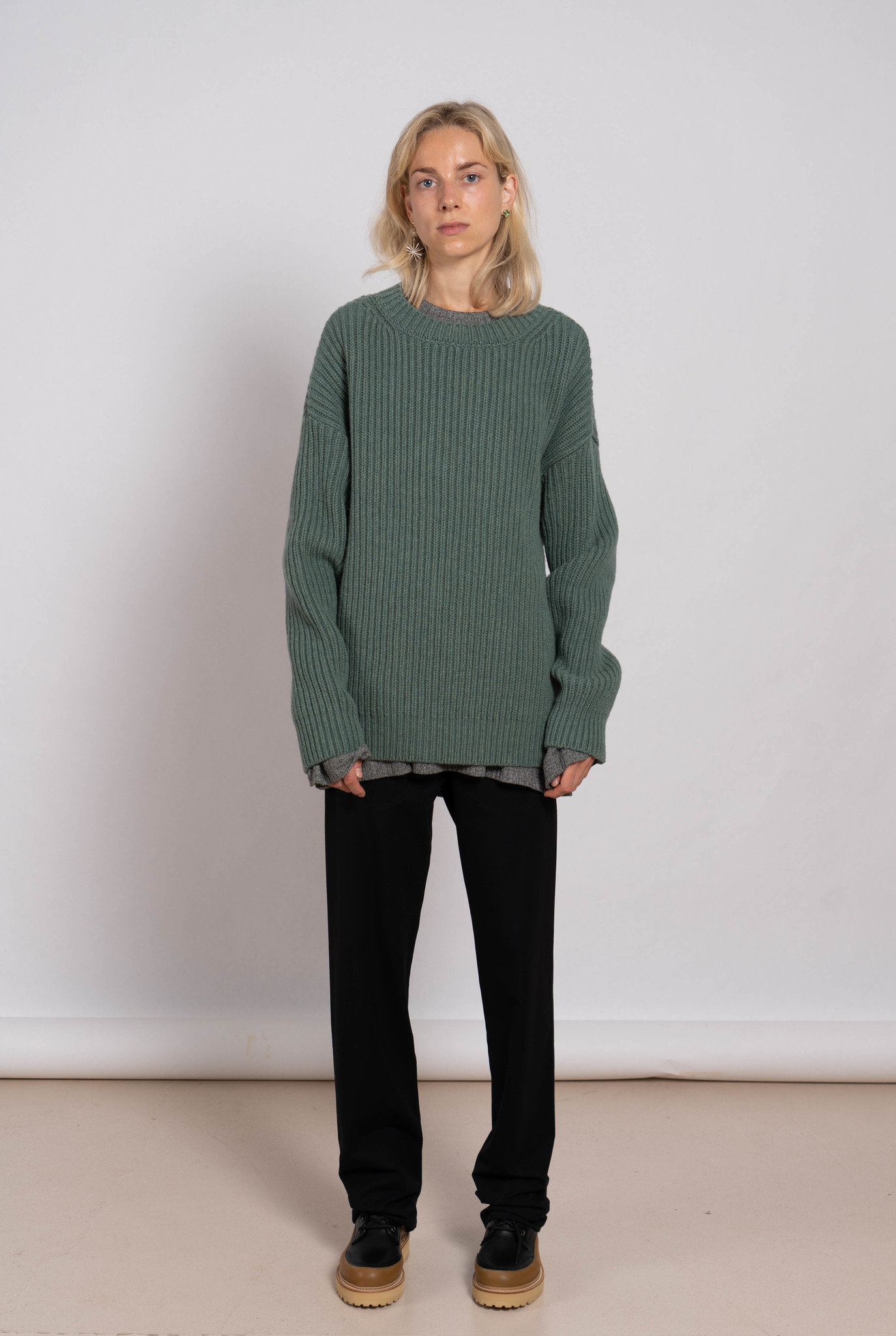 Alan Chunky Sweater Light Green