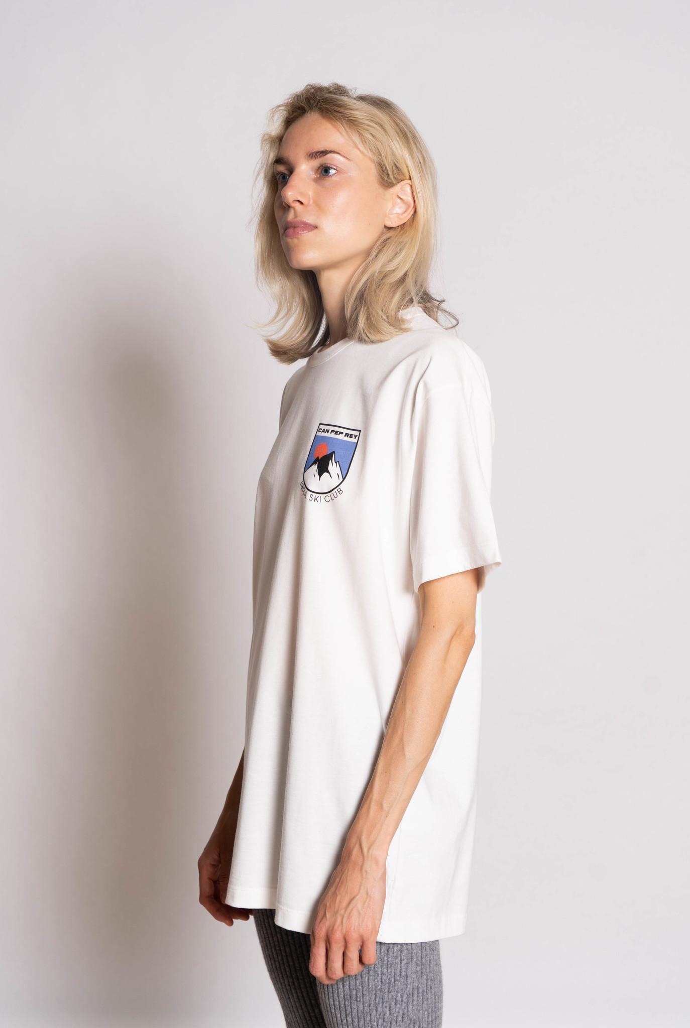 Unisex  S/S T-shirt Off White Frontprint
