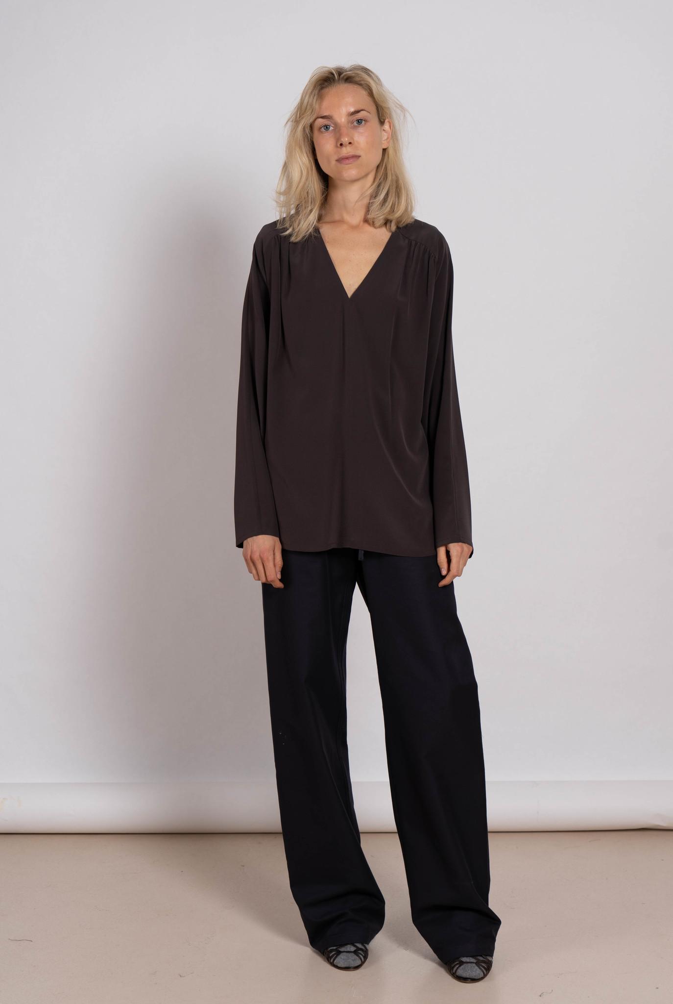 Boheme blouse silk grey