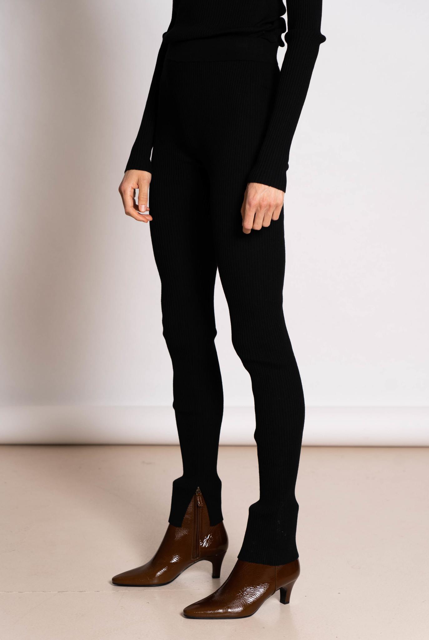 Legging merino rib black