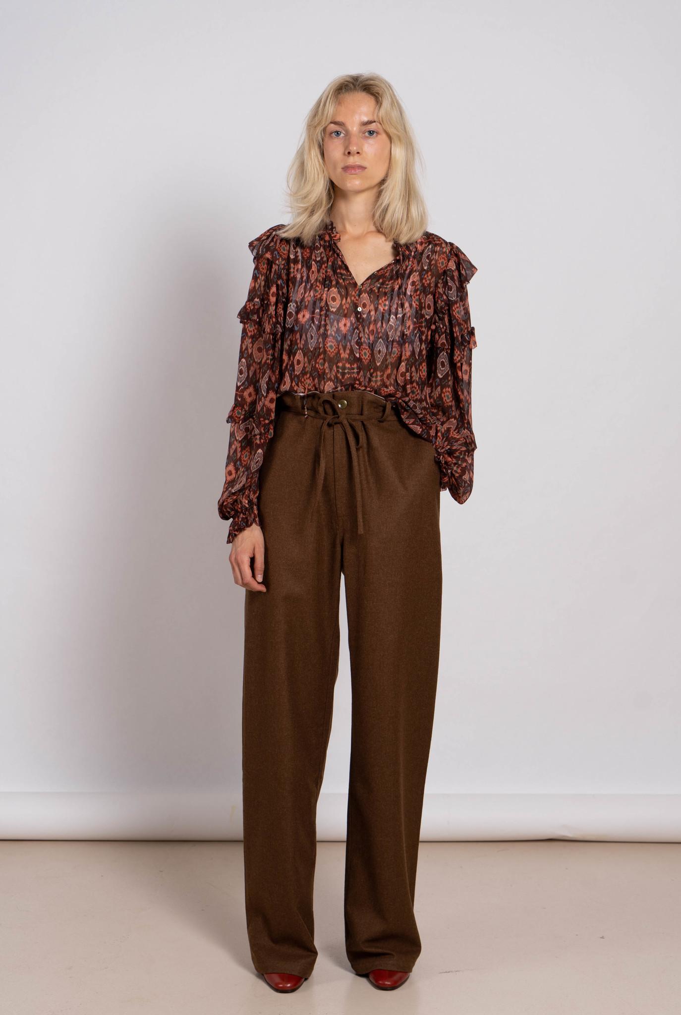 John trousers chestnut wool