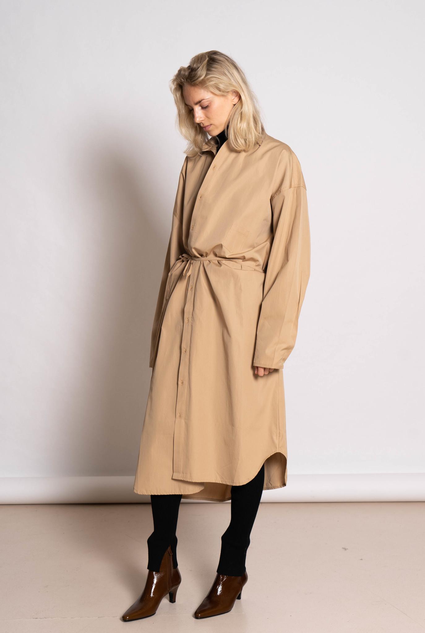 10.2 Dress Beige Cotton