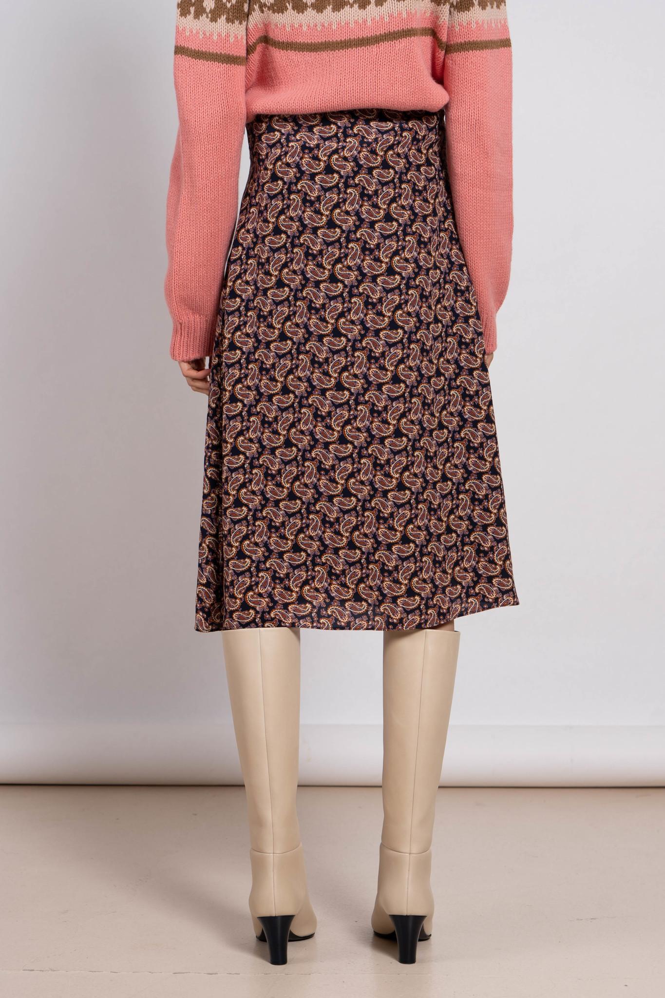Philae Skirt Avec Pan Multicolor Print