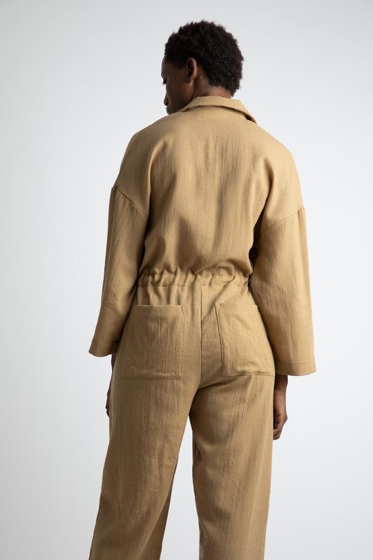 Emily Argo jumpsuit Camel