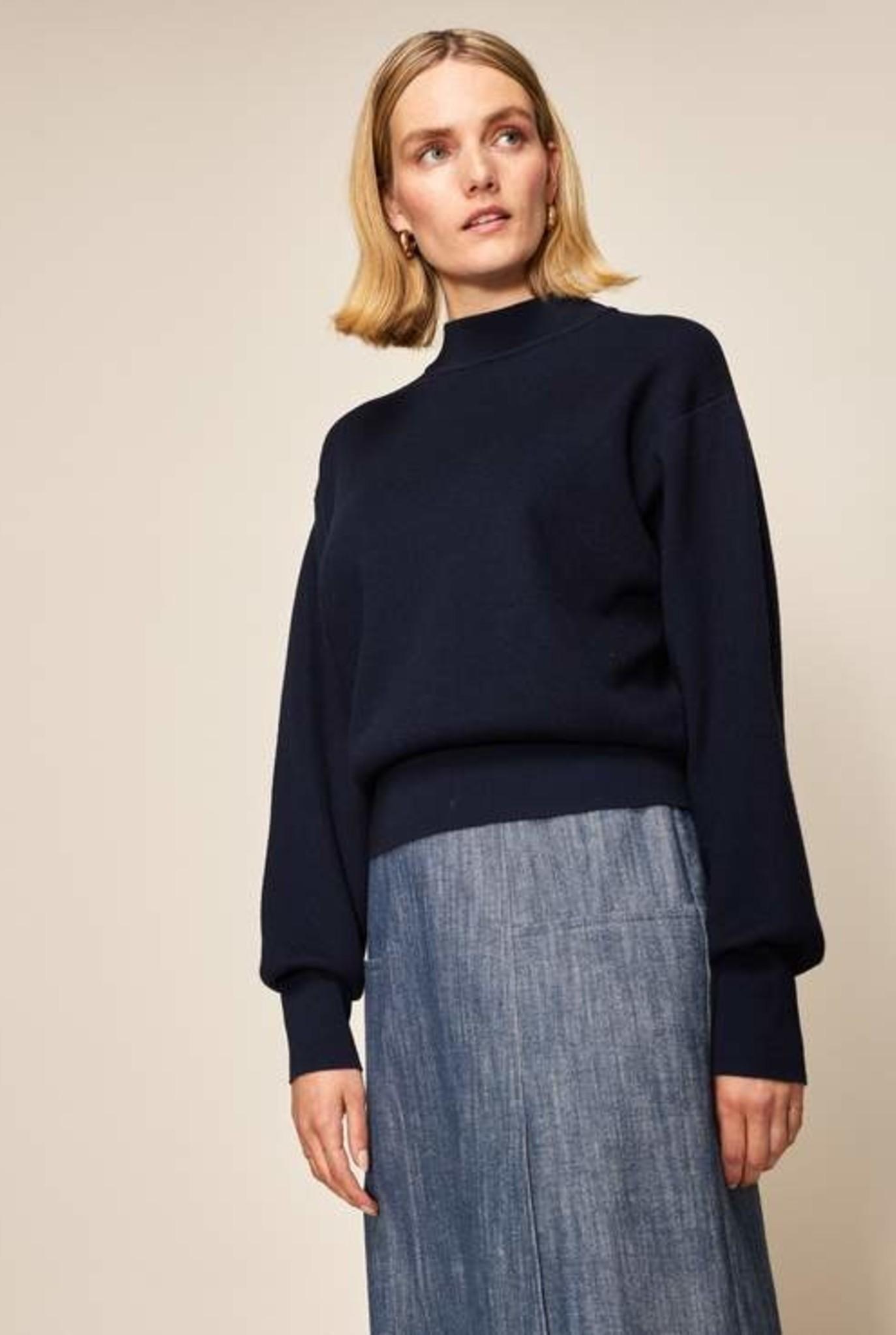 Techno Ribs sweater Marine