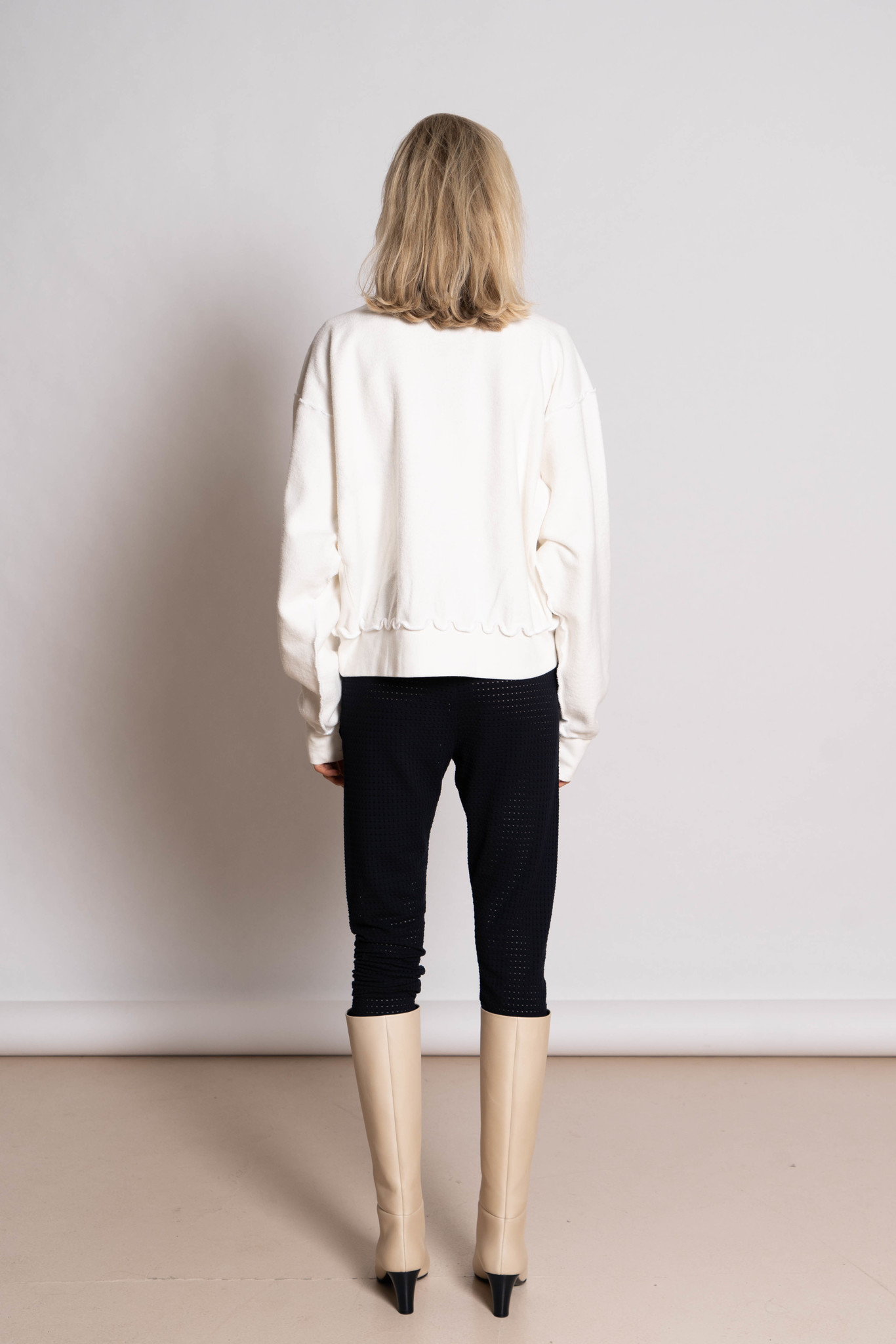 'It Was Back' Reversible Sweater White