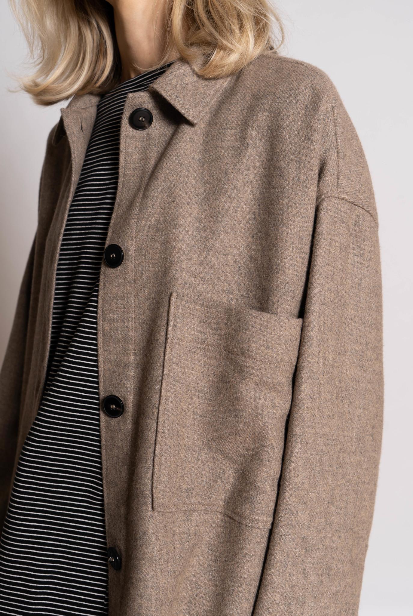 Short jacket taupe melee