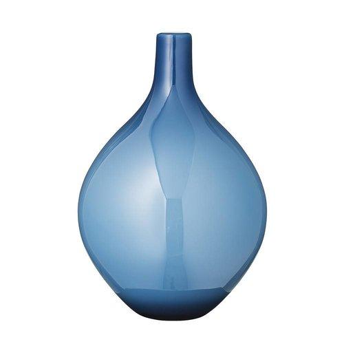 Bloomingville Vaas blauw glas