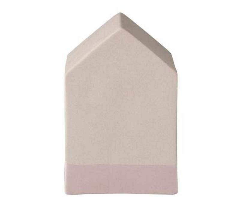 Deco house, blush ceramic