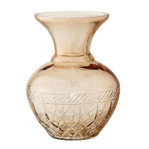 Bloomingville Vaas, bruin - glas