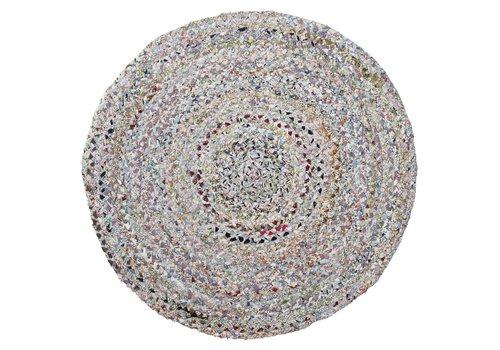 Bloomingville Rond tapijt diverse kleuren Ø90 cm