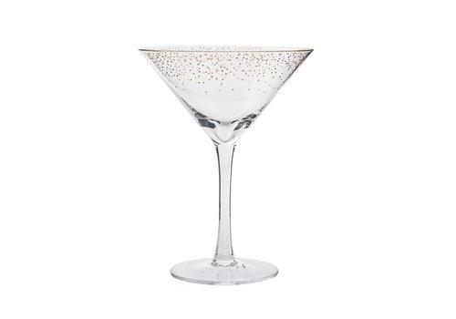 Bloomingville Cocktailglas, doorzichtig/goud