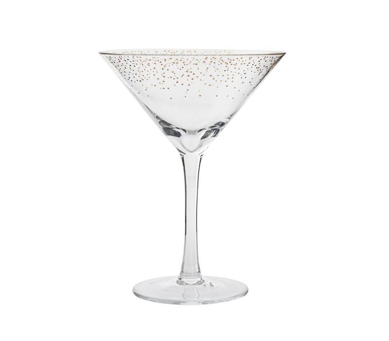 Cocktailglas, doorzichtig/goud
