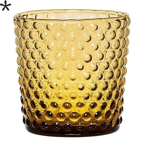 Bloomingville Theelichthouder glas amber