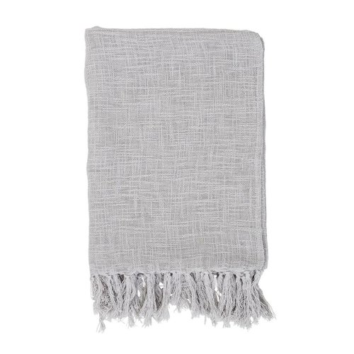 Bloomingville Katoenen deken grijs
